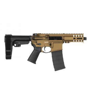 CMMG Banshee pistol 300, 9mm RDB MK4 Tiger Eye Brown - 94a179c-teb