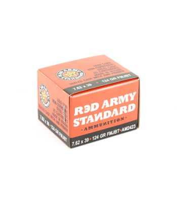 Red Army Standard 7.62x39 FMJ 122gr 20 Rounds