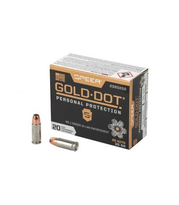 Speer Gold-Dot 25 Auto 35 Gr. 20 Rounds