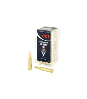 CCI Game Point .17 HMR 20 Grain Jacketed Soft Point Box of 50