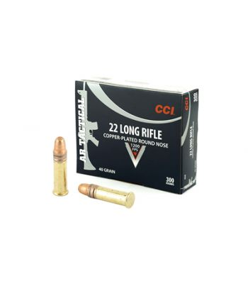 CCI AR Tactical .22 Long Rifle 40 Grain Copper Plated Round Nose