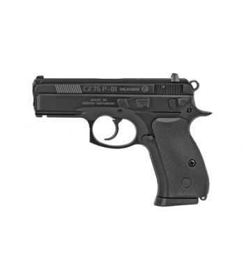 CZ 75 P01 Compact With De-cocker 9mm Luger 3.7 Inch Barrel Black Finish Polycoat