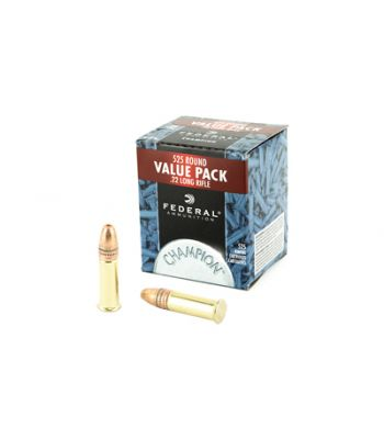 Federal Champion 22 Long Rifle 36 Gr Plated Lead Hollow Point Box of 525 Bulk