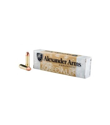 Alexander Arms .50 Beowulf 335 Gr Rainier FMJ  box of 20 - A-B335FPBOX