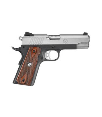 Ruger SR1911 Lightweight .45 ACP 4.25 Inch Barrel Low-Glare Stainless Steel Nova