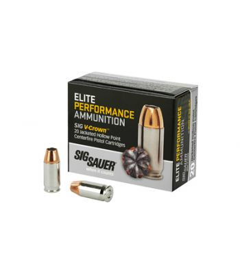 Sig Sauer Elite Performance V-Crown .380 ACP 90 Grain Jacketed Hollow Point