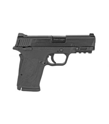 Smith & Wesson M&P 9mm Shield EZ w/ Manual Thumb Safety 2-8 Rd Magazines Black - 12436