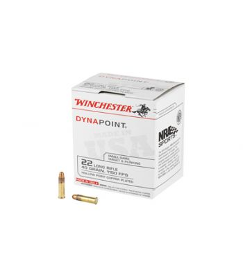 Winchester Dynapoint .22 Long Rifle 40 Grain Hollow Point 500 Per Box - WD22LRB