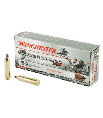Winchester Deer Season XP Ammunition 450 Bushmaster 250 Grain Extreme Point Poly