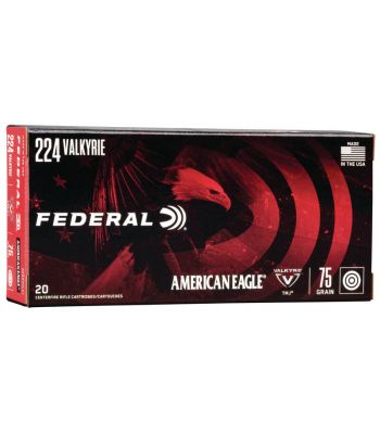 Federal American Eagle 224 Valkyrie 75 Gr Total Metal Jacket Box of 20 - AE224VLK1