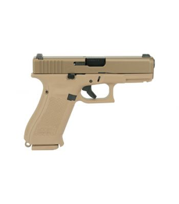 Glock G19X 9MM Coyote Finish Glock Night Sights 2 19 Rd and 1 17 Rd Magazine - UX1950703