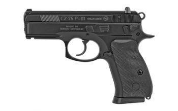 CZ 75 P01 Compact With De-cocker 9mm Luger 3.7 Inch Barrel Black Finish Polycoat