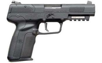 FNH Five Seven Blk 5.7x28mm 4.8 Inch Barrel Adjustable 3-Dot Sights Black 20 Rou