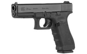 Glock 20 Gen4 10mm Auto 4.6 Inch Barrel Black Finish Fixed Sights 15 Round